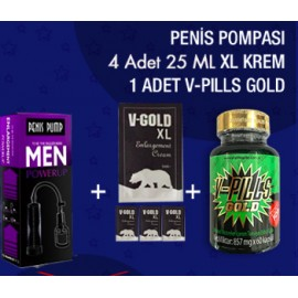 1 ADET V-PILLS GOLD + XL + PP