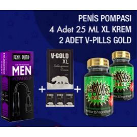 2 ADET V-PILLS GOLD + XL + PP