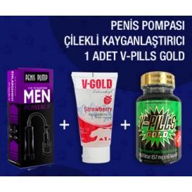 1 ADET  V-PILLS GOLD + CILEK + PP