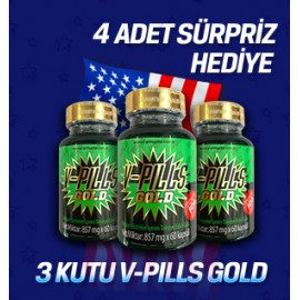3 ADET  V-PILLS GOLD